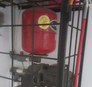 tabung pompa air yang selesai